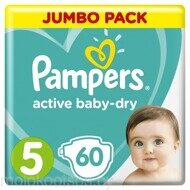 Pampers Подгузники Active Baby-Dry Junior (11-16 кг), 60 шт
