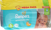 Pampers Подгузники Active Baby-Dry Junior (11-16 кг), 110 шт
