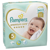 Pampers Подгузники Premium Care Junior (11+ кг), 28 шт.